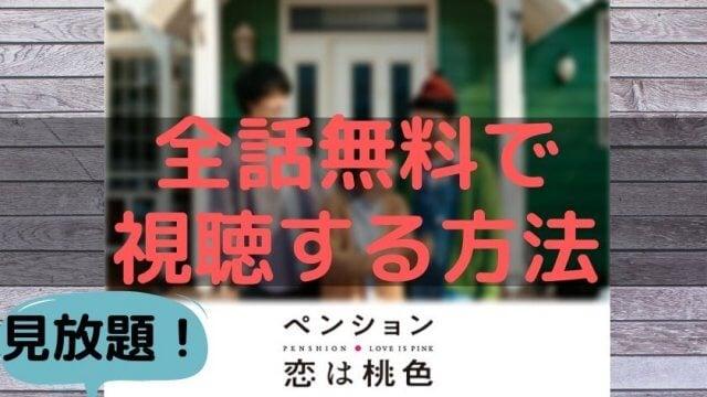 「ペンション・恋は桃色」全話無料で視聴する方法、配信FOD