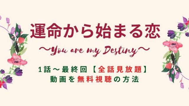 運命から始まる恋 1話~最終回【全話見放題】 見逃し動画を無料で視聴する方法・配信サイト【最終話までFOD公式動画】-You are my Destiny-